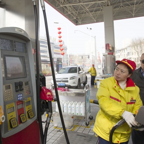 Gas pump in China