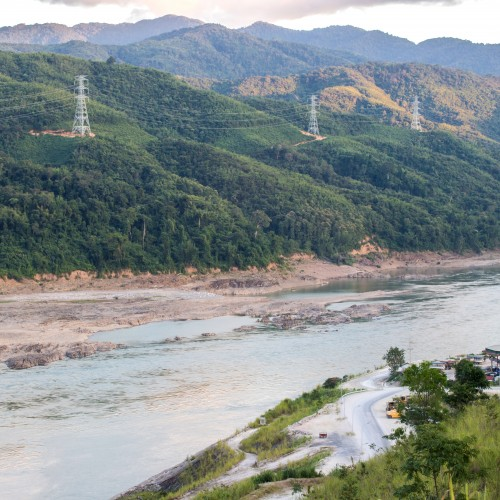 Xayaburi Dam, Hydroelectric Dam on the Mekong River in Northern Laos