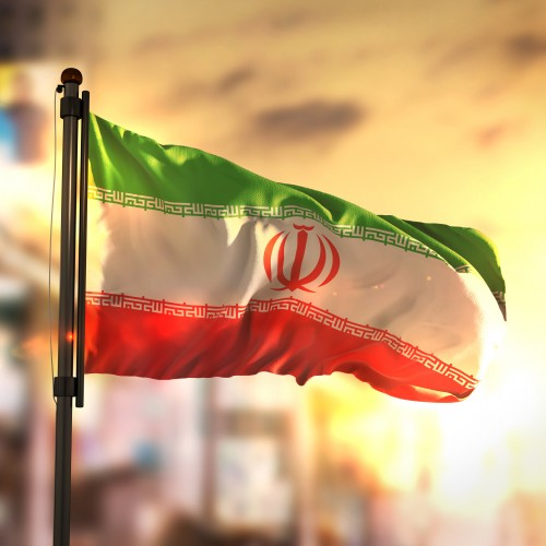 Photo of an Iranian Flag